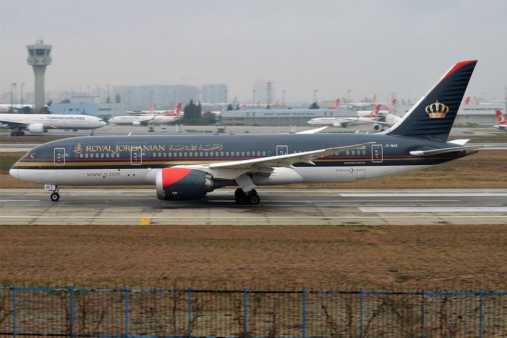Royal Jordanian JY BAG Boeing 787 8 Dreamliner Prince Ali bin Al Hussein at Istanbul Atatürk Airport