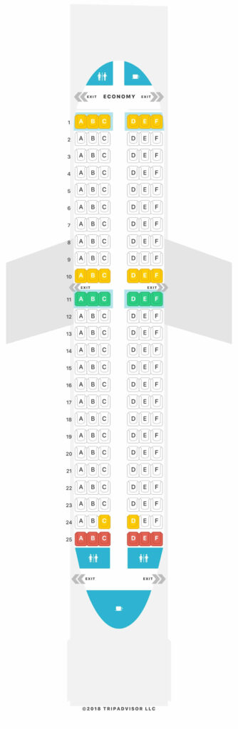 Seat Map and Seating Chart Airbus A319 100 V1 Volotea