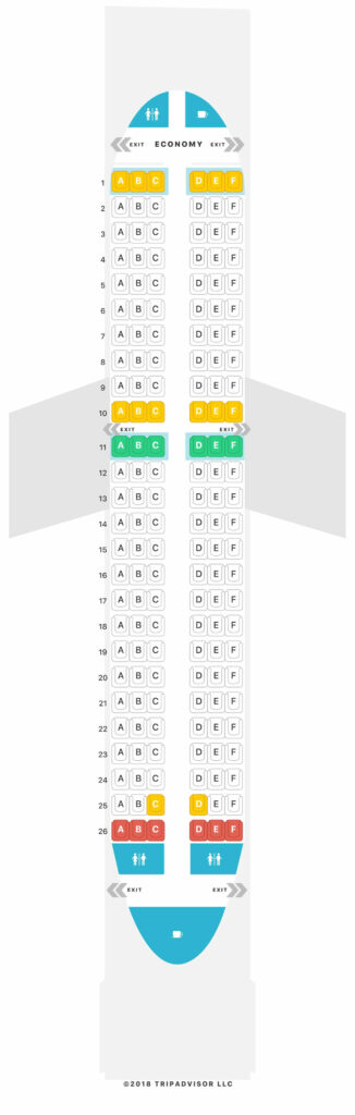 Seat Map and Seating Chart Airbus A319 100 V2 Volotea