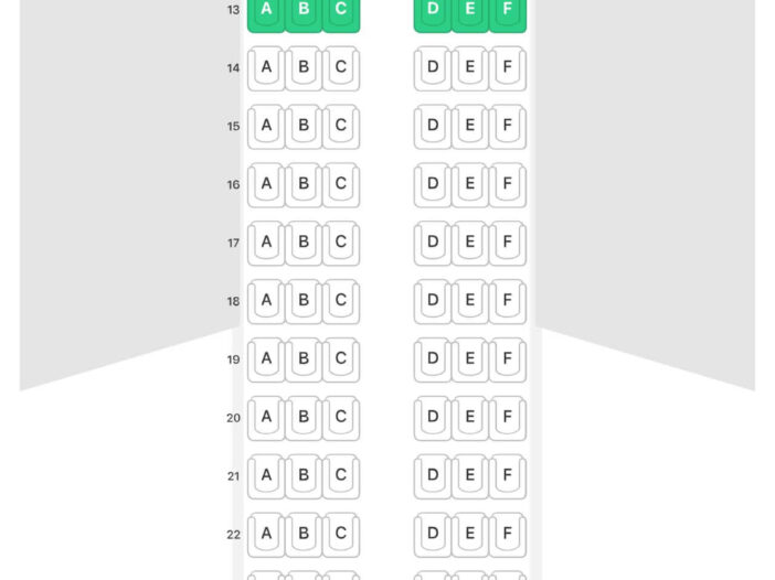 Seat Map and Seating Chart Airbus A320ceo IndiGo