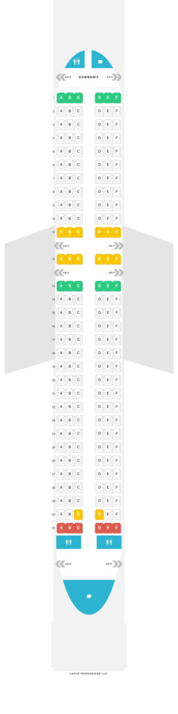 Seat Map and Seating Chart Airbus A320neo IndiGo