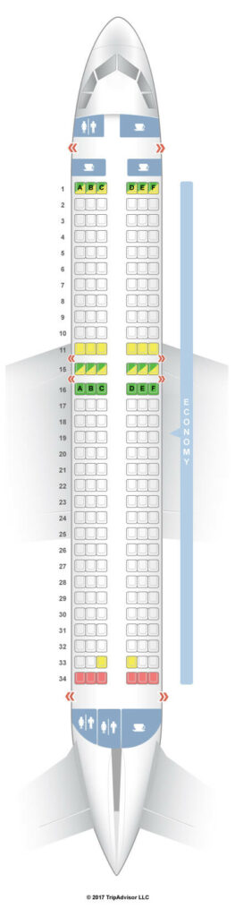 Seat Map and Seating Chart Airbus A320neo Pegasus Airlines
