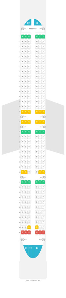 Seat Map and Seating Chart Airbus A321neo IndiGo