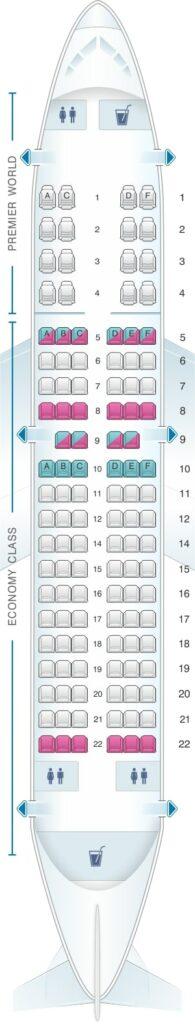 Seat Map and Seating Chart Boeing 737 700 Kenya Airways