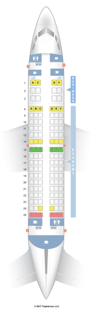 Seat Map and Seating Chart Boeing 737 700 Royal Air Maroc