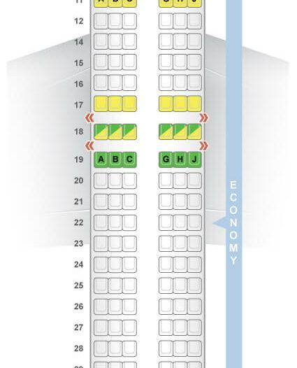 Seat Map and Seating Chart Boeing 737 800 Kenya Airways