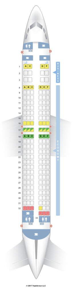 Seat Map and Seating Chart Boeing 737 800 Royal Air Maroc