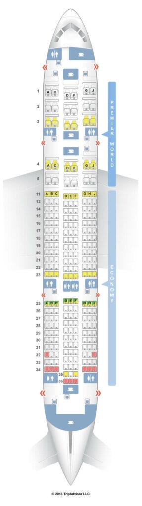 Seat Map and Seating Chart Boeing 787 8 Dreamliner Kenya Airways