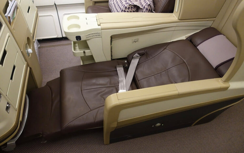 Singapore Airlines Airbus A330 300 business class bed