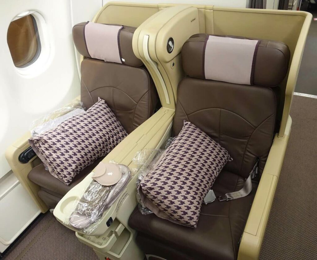 Singapore Airlines Airbus A330 300 business class seats