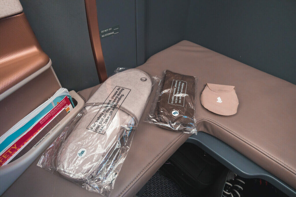 Singapore Airlines Airbus A350 900 Business Class Amenities