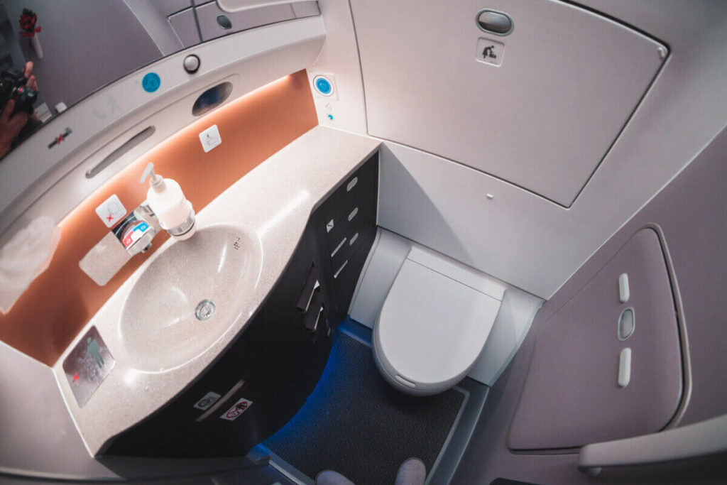 Singapore Airlines Airbus A350 900 Business Class Bathroom