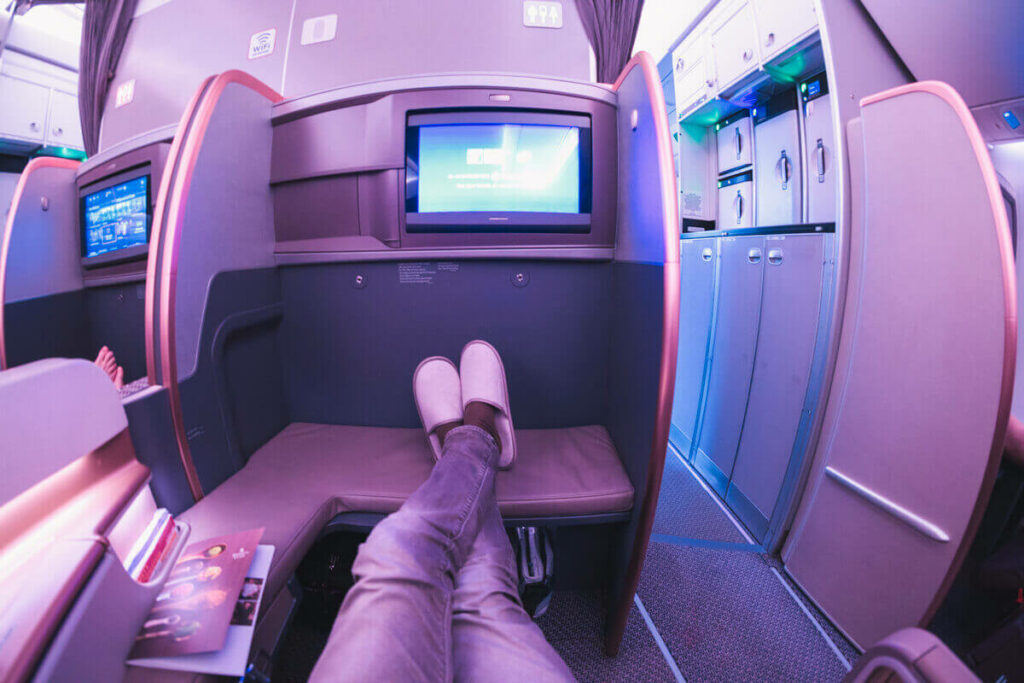 Singapore Airlines Airbus A350 900 Business Class Bulkhead Legroom