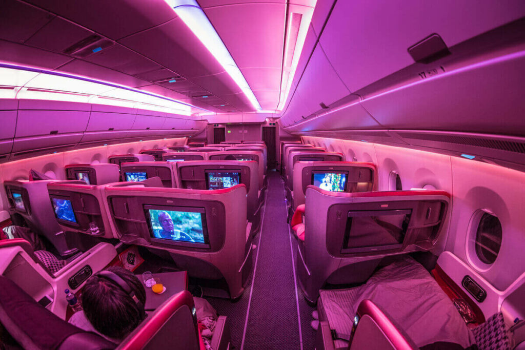 Singapore Airlines Airbus A350 900 Business Class Mood Lighting