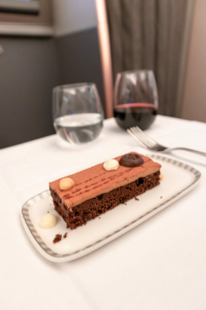 Singapore Airlines Airbus A350 900 Business Class Nanyang Coffee Mousse with Chocolate Cake