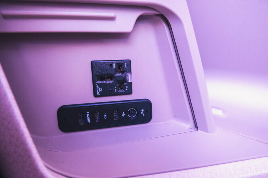 Singapore Airlines Airbus A350 900 Business Class Power Socket
