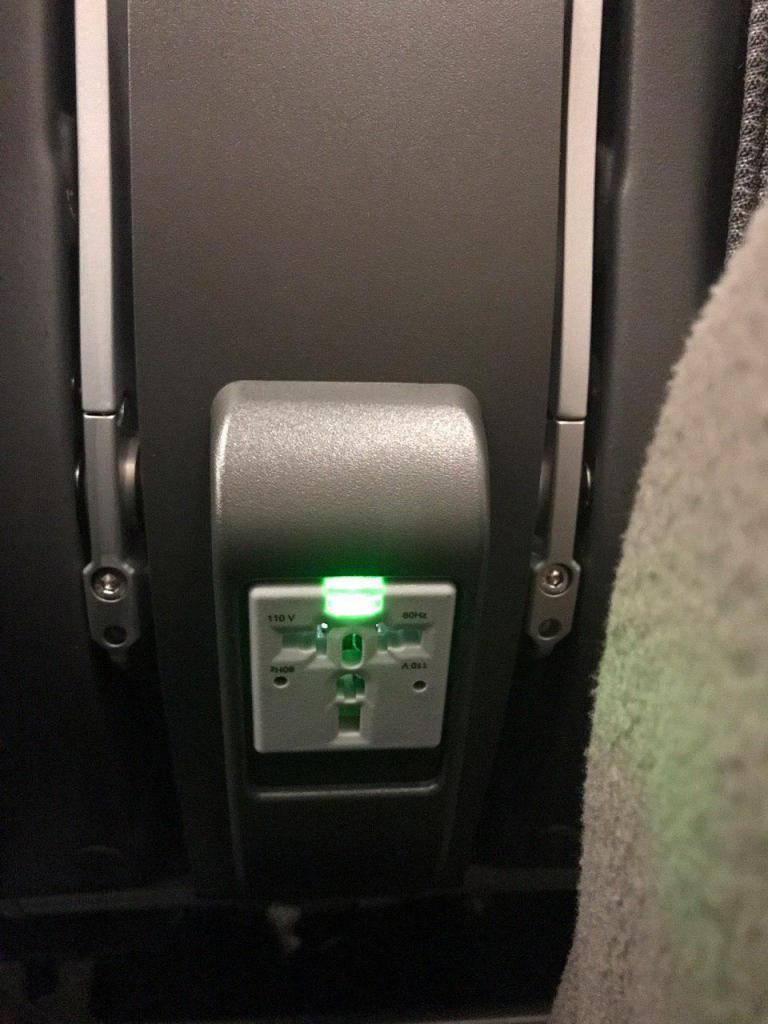 Singapore Airlines Airbus A350 900 Economy Class power outlet