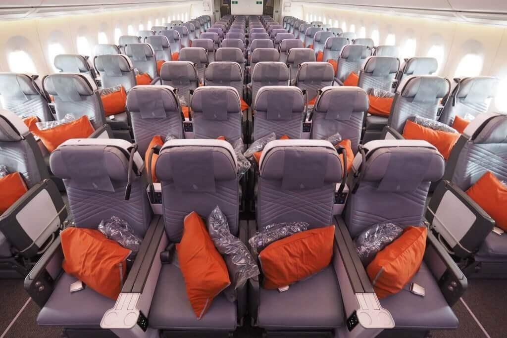 Singapore Airlines Airbus A350 900 Premium Economy cabin