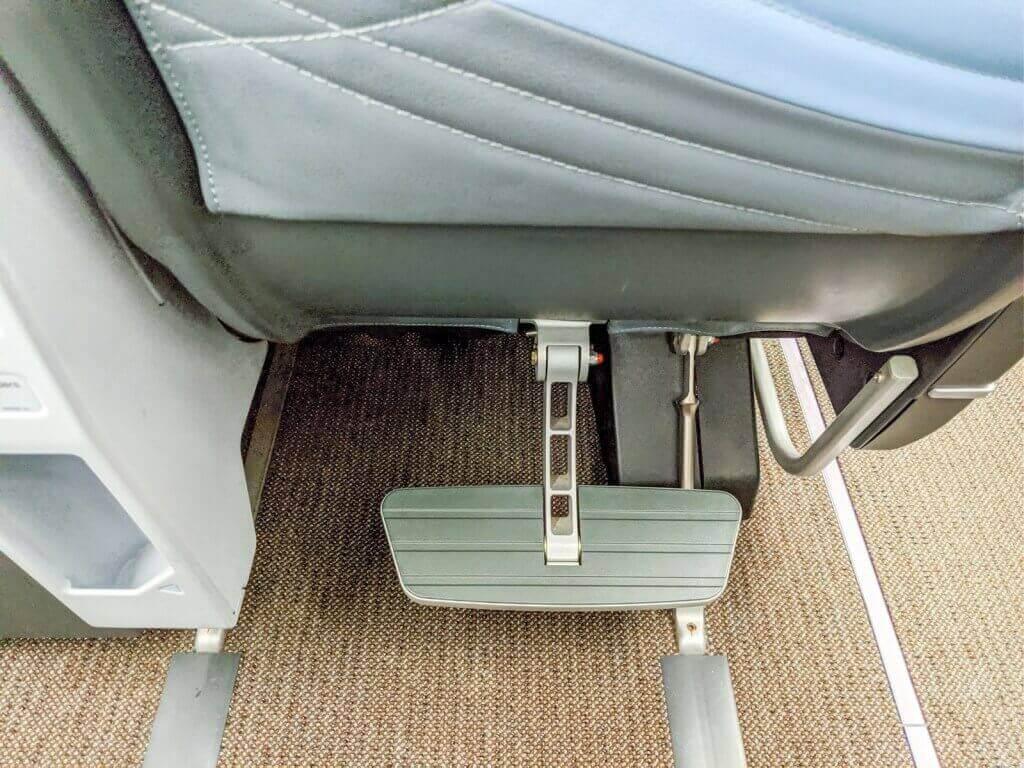 Singapore Airlines Airbus A350 900 Premium Economy footrest