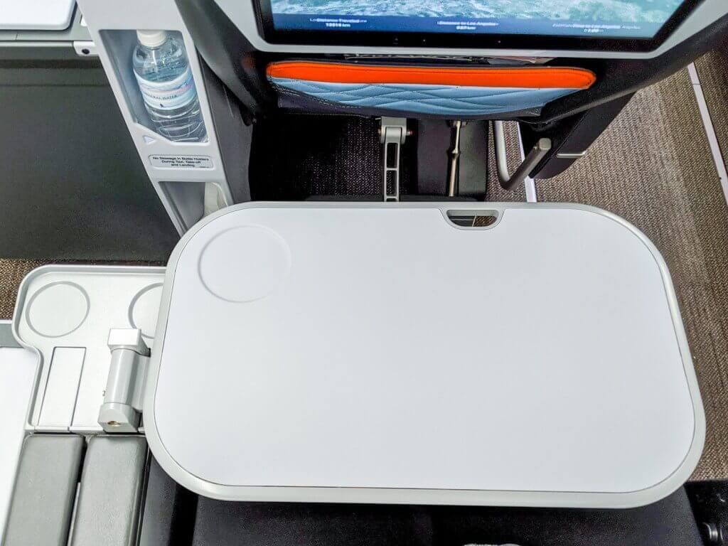 Singapore Airlines Airbus A350 900 Premium Economy tray table