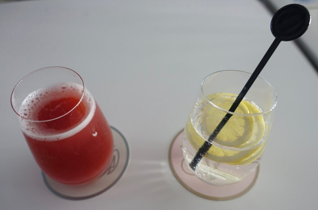Air France Boeing 777 300ER First Class La Premiere drinks