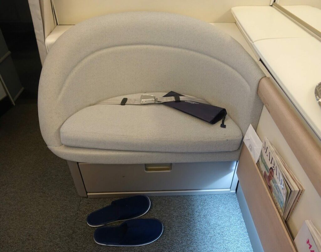 Air France Boeing 777 300ER First Class La Premiere ottoman