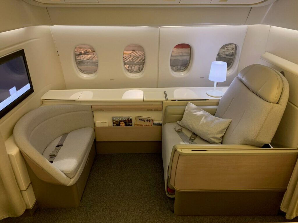 Air France Boeing 777 300ER First Class La Premiere seats