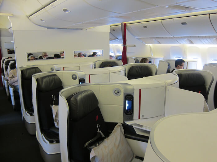 Air France Boeing 777 300ER business class cabin view