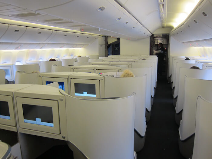 Air France Boeing 777 300ER business class cabin