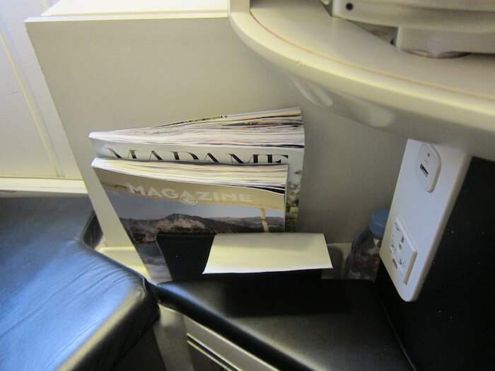 Air France Boeing 777 300ER business class literature pocket