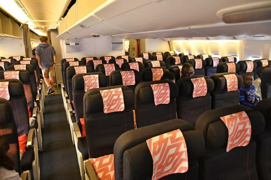 Air France Boeing 777 300ER economy class cabin