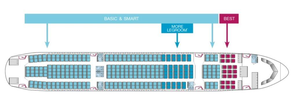 A330-300 seatmap eurowings Yikes: Delta