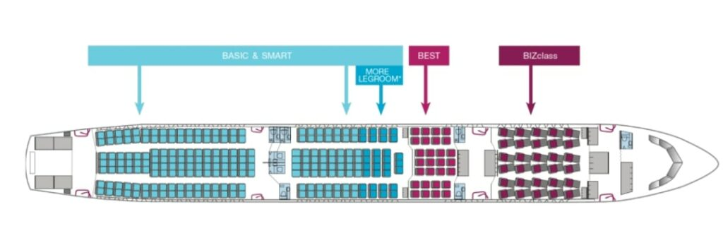 Eurowings Airbus A330 300 Seating Plan