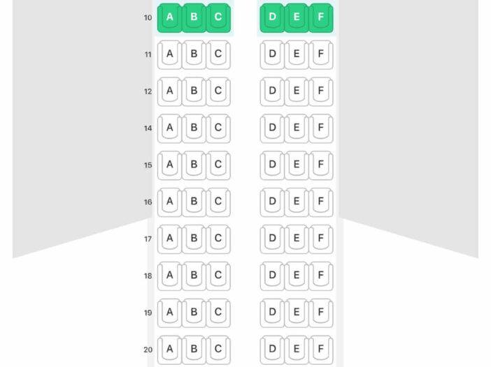 Seat Map and Seating Chart Airbus A319 100 Eurowings Layout 1