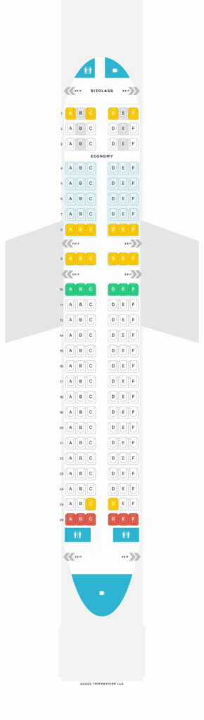 Seat Map and Seating Chart Airbus A319 100 Eurowings Layout 2