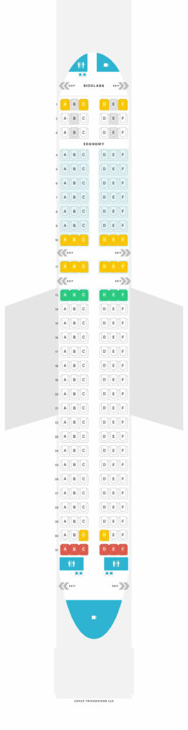 Seat Map and Seating Chart Airbus A320 200 Layout1 Eurowings