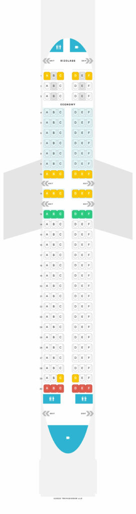 Seat Map and Seating Chart Airbus A320 200 Layout2 Eurowings
