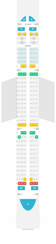 Seat Map and Seating Chart Airbus A321 200 Eurowings