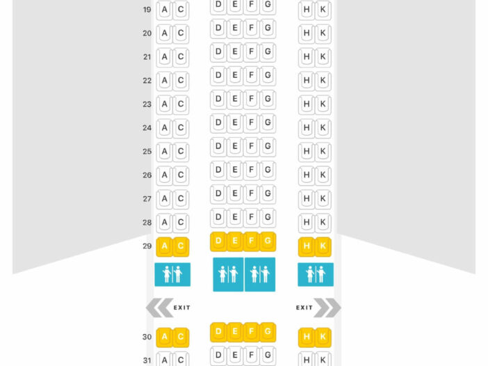 Seat Map and Seating Chart Airbus A330 200 Eurowings