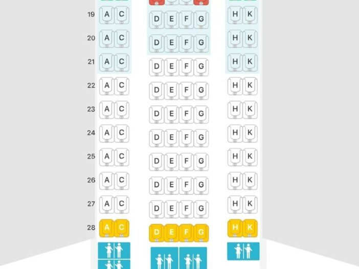 Seat Map and Seating Chart Airbus A330 300 Eurowings
