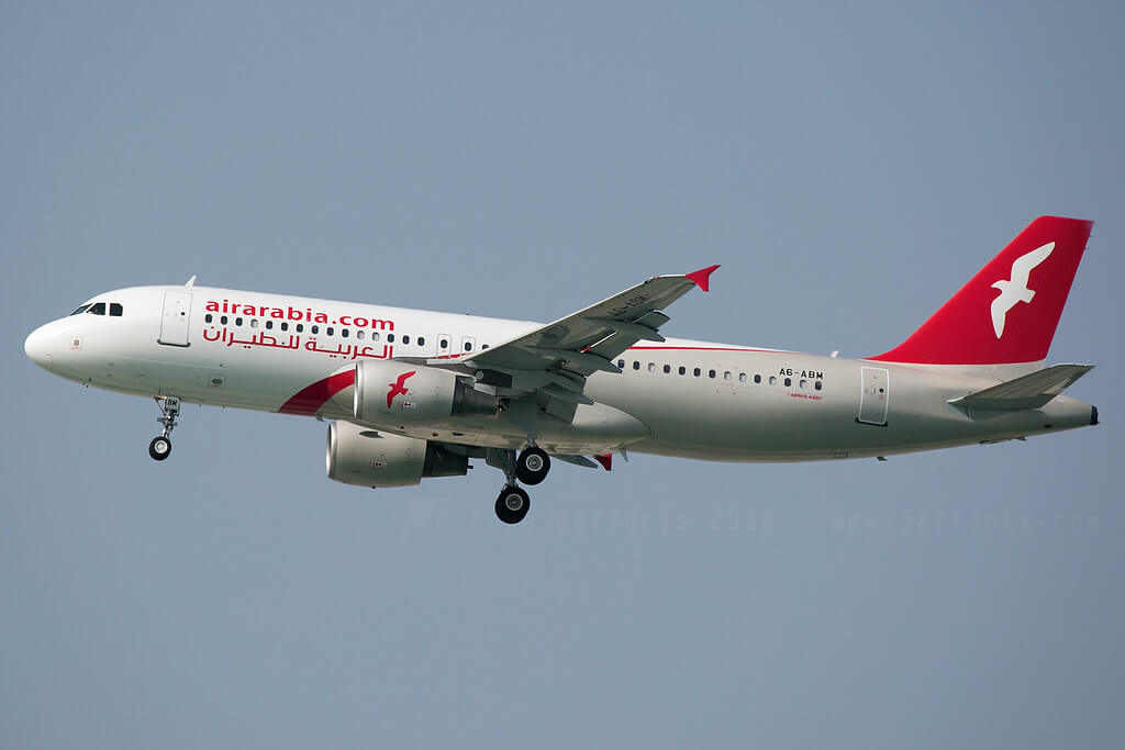 A6 ABM Airbus A320 200 Air Arabia at Bahrain