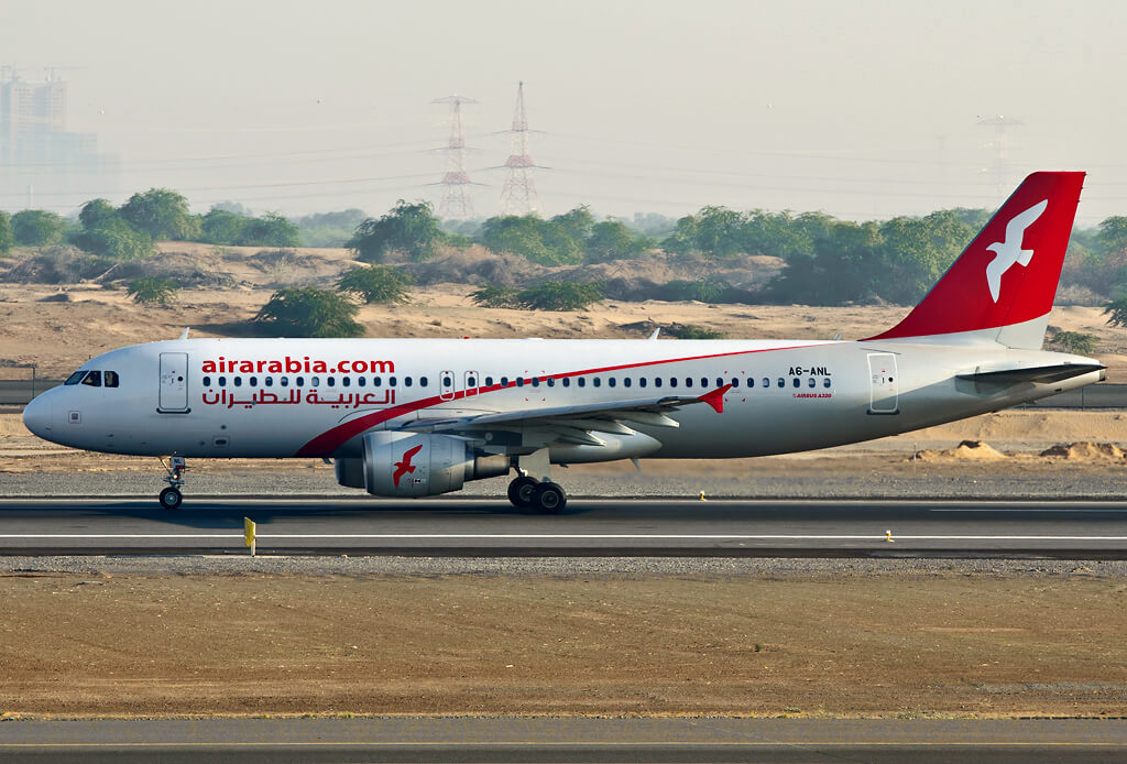 A6 ANL Air Arabia Airbus A320 214 at Sharjah Airport