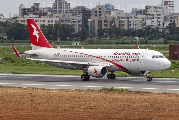 Air Arabia A6 ANO Airbus A320 214WL at Sharjah Airport