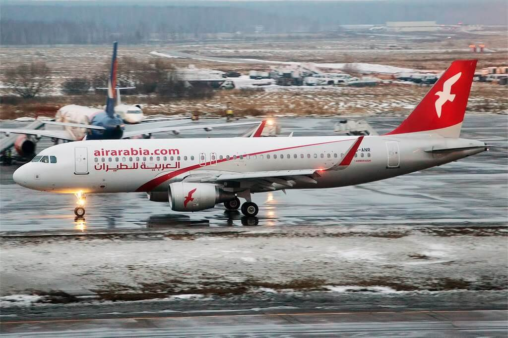 Air Arabia A6 ANR Airbus A320 214 at Domodedovo International Airport
