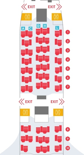 Air Belgium Airbus A340 300 Business Class Seating Plan