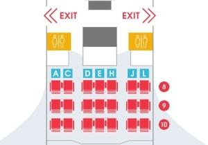 Air Belgium Airbus A340 300 Premium Economy Seating Plan