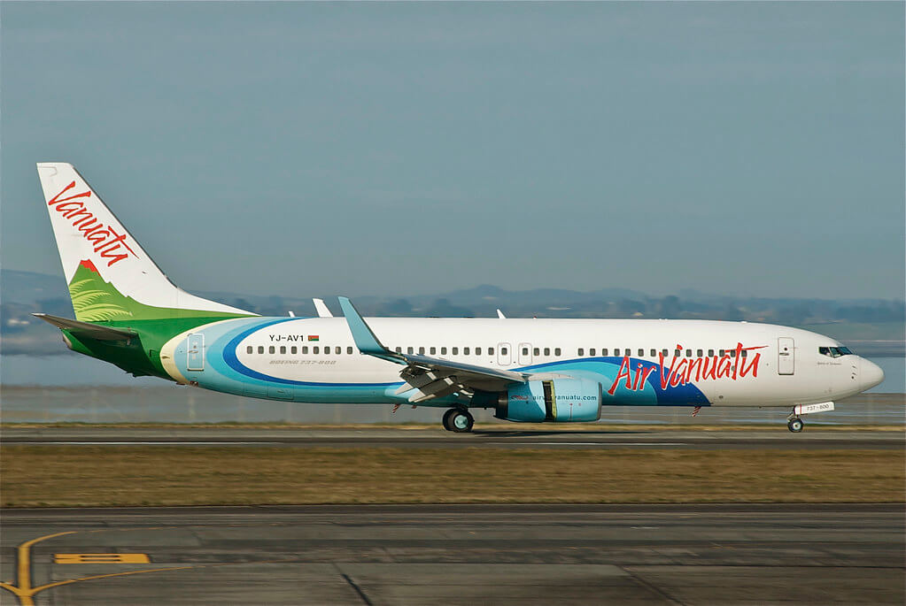 Air Vanuatu YJ AV1 Boeing 737 800 at Auckland International Airport