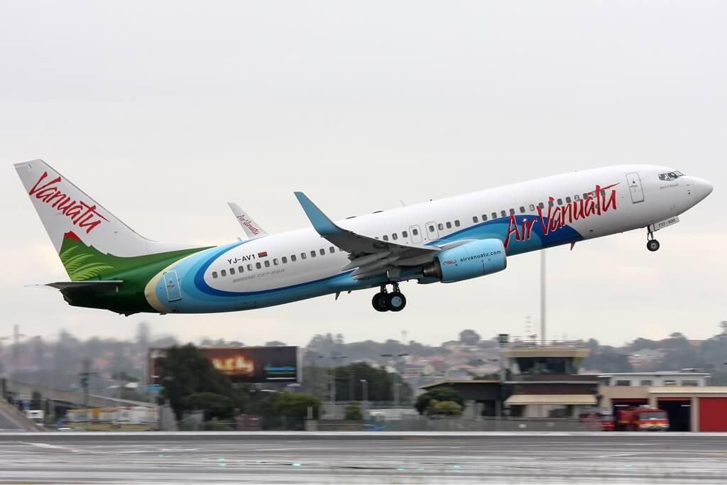 Air Vanuatu YJ AV1 Boeing 737 800 at SYD Gilbert
