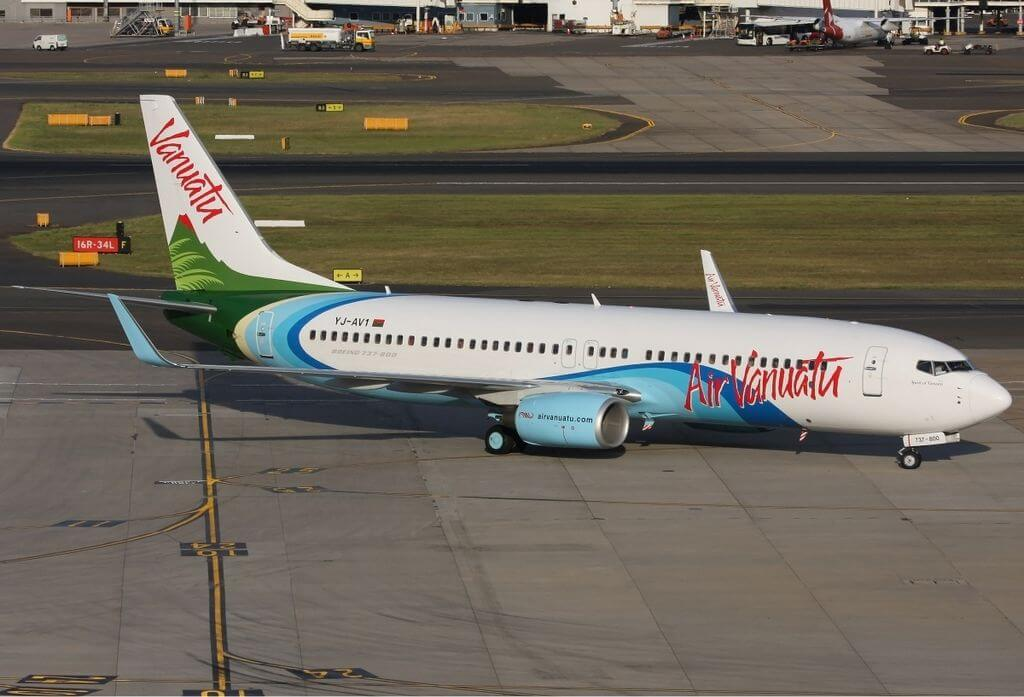 Air Vanuatu YJ AV1 Boeing 737 800 at Sydney Airport