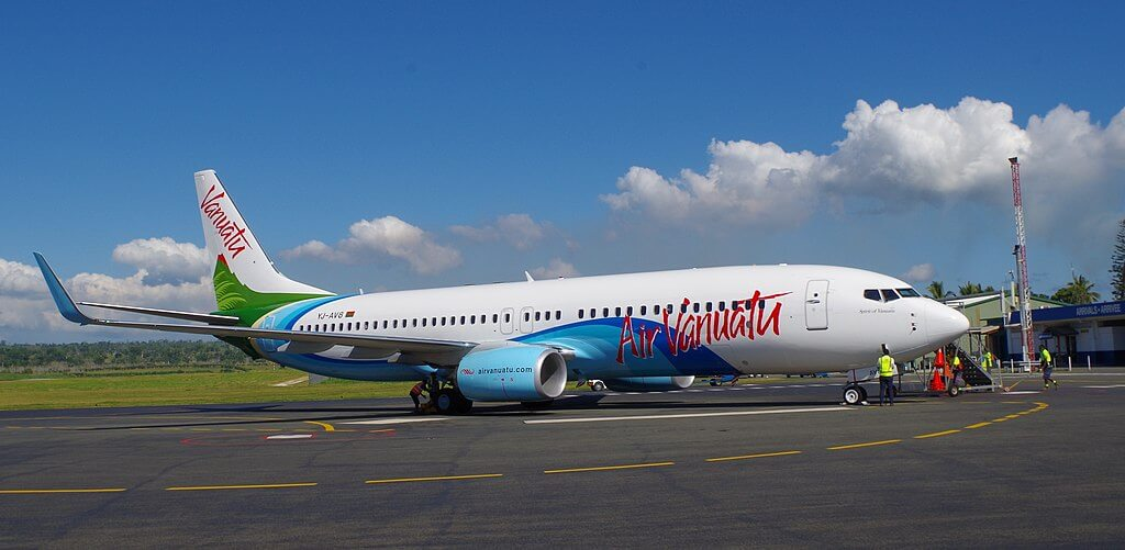 Air Vanuatu YJ AV8 Boeing 737 800 at Bauerfield International Airport